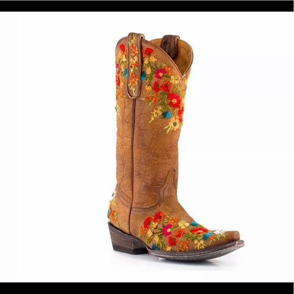 2153f99524f OLD GRINGO Women's Brass Flora Western Boots 8 1/2